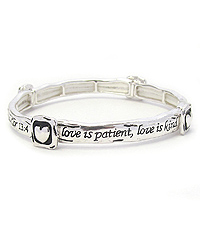 RELIGIOUS INSPIRATION STACKABLE MESSAGE STRETCH BRACELET - COR 13:4