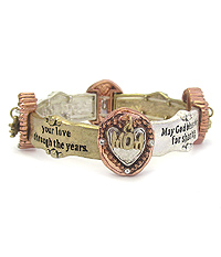 INSPIRATION MESSAGE STRETCH BRACELET - MOM AND DAUGHTER