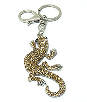 CRYSTAL LIZARD KEY CHAIN