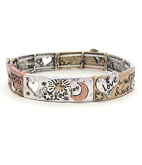 LOVE THEME STRETCH BRACELET - I LOVE YOU TO THE MOON AND BACK