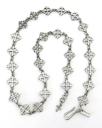 MENS STAINLESS STEEL METAL CROSS CHAIN NECKLACE