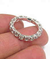 SINGLE ROW RHINESTONE STRETCH RING