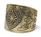 AZTECA THEME METAL THUNDERBIRD CUFF BANGLE
