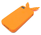 BUNNY EARS  SOFT CASE FOR CELL PHONE CASE WITH POM POM HEART PILLOW INCLUDED - SOFT CASE FOR IPHONE 4 -  4S