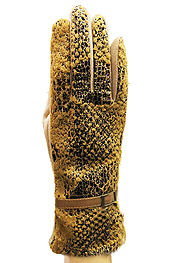 SNAKE SKIN FASHION GLOVES - A PAIR