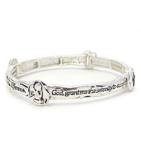 RELIGIOUS INSPIRATION STACKABLE MESSAGE STRETCH BRACELET - SERENITY PRAYER