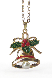 CHRISTMAS THEME PENDANT NECKLACE - BELL
