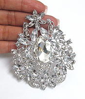 CRYSTAL AND GLASS MIX BROOCH OR PIN