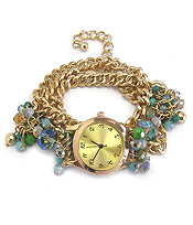 MULTI BEAD ON CHAIN WRAP WATCH