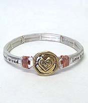 MESSAGE WITH WIRE RUSTIC BRACELET