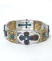 MULTI METAL CROSS BRACELET