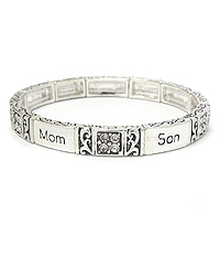 FAMILY INSPIRATION STRETCH BRACELET - MOM AND SON