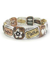 RELIGIOUS INSPIRATION STRETCH BRACELET - MOTHER AND DAUGHTER