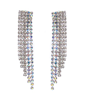 RHINESTONE MULTI LINE DROP EARRING