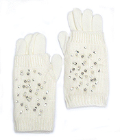 CRYSTAL SPRINKLE DOUBLE LAYER GLOVES