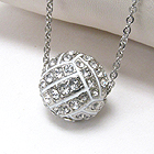 PREMIER ELECTRO PLATING CRYSTAL VOLLEYBALL NECKLACE - SPORTS