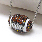 PREMIER ELECTRO PLATING CRYSTAL FOOTBALL NECKLACE - SPORTS