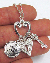 LOVE KEY AND LOCK NECKLACE - UNLOCK YOUR HEART