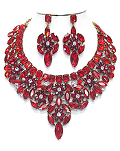 LUXURY CLASS VICTORIAN STYLE AND AUSTRIAN GLASS CHUNKY PARTY NECKLACE SET