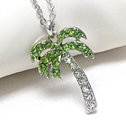 PREMIER ELECTRO PLATING CRSYTAL DECO PALM TREE NECKLACE