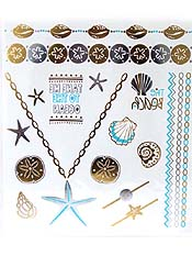 FASHION METALLIC FLASH TATTOO JEWELRY
