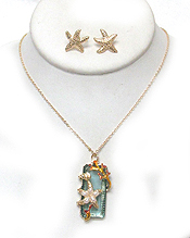 SEALIFE THEME STARFISH NECKLACE SET