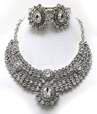 LUXURY CLASS AUSTRIAN CRYSTAL SUD BIB STYLE NECKLACE AND EARRING SET