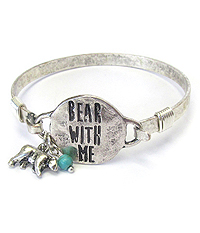 SOUTHERN COUNTRY STYLE WIRE BANGLE BRACELET - BEAR WITH ME