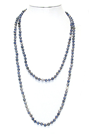 GENUINE FROST BALL STONE LONG NECKLACE