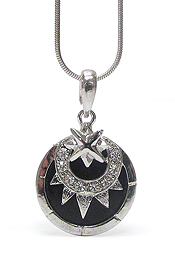 CRYSTAL STUD HELIOS PENDANT NECKLACE