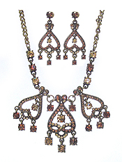 AUSTRIAN CRYSTAL NECKLACE EARRING SET