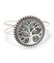 TREE OF LIFE ABALONE BANGLE BRACELET