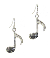 CRYSTAL MUSIC NOTE EARRING