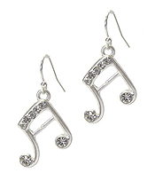 CRYSATL MUSIC NOTE EARRING