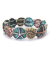 SEALIFE THEME STRETCH BRACELET