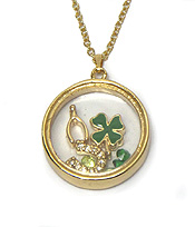 ORIGIMI STYLE LUCKY CHARMS INSIDE NECKLACE - Wholesale Jewelry
