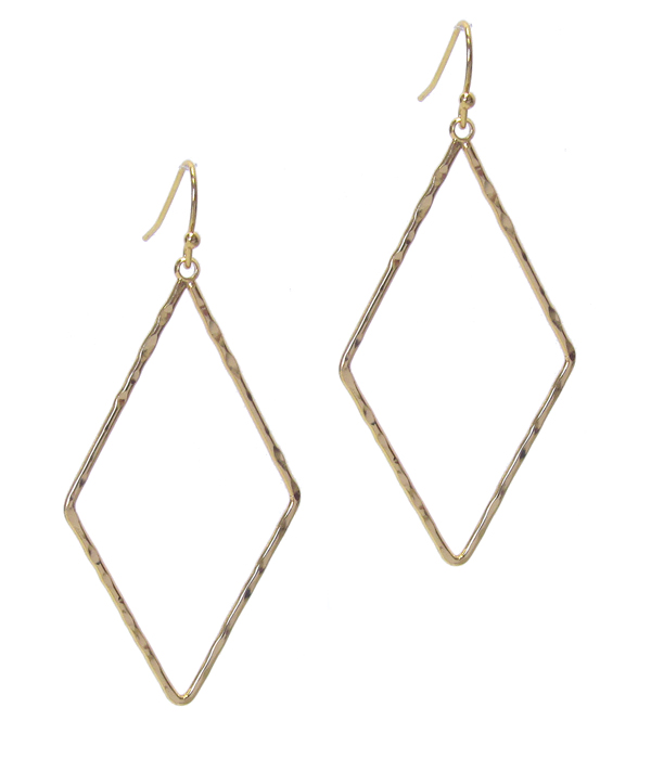 BRASS DIAMOND SHAPE EARRING